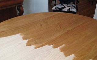 q advice on camouflaging water rings on wood, diy, home maintenance repairs, woodworking projects, this is the fully sanded table prior to the first coat of stain