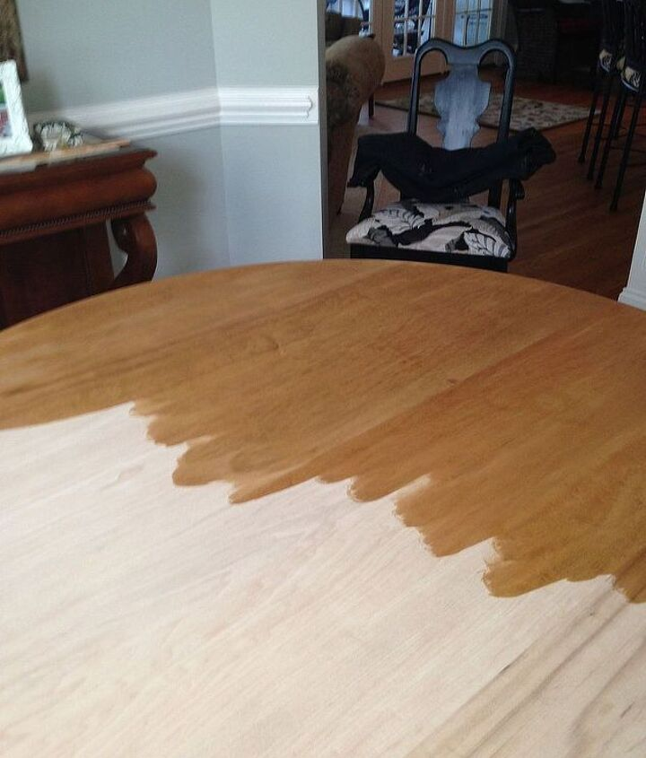 this is the fully sanded table prior to the first coat of stain.
