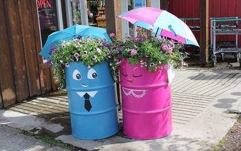 oil drum up cycle, container gardening, gardening, painting, repurposing upcycling, Cute container gardens that are sure to catch the eye