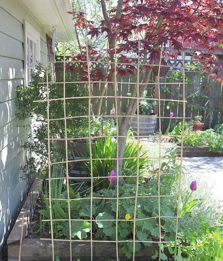 Keep going until you have a complete and very sturdy trellis.