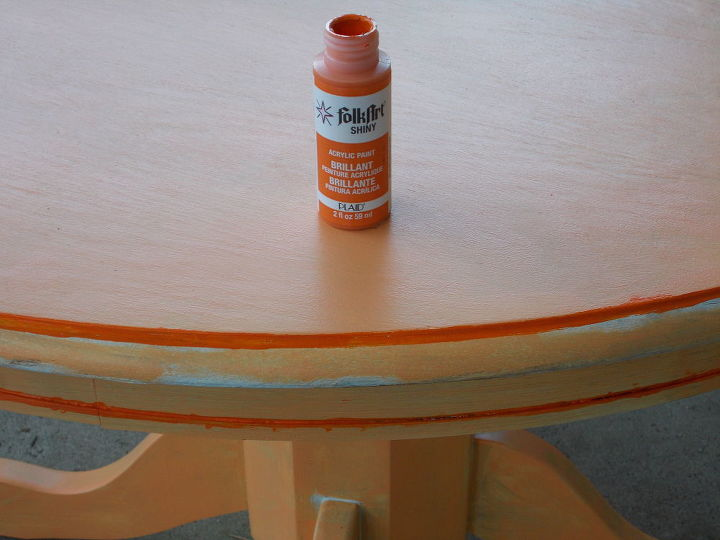 been busy re doing a table i found along side a dumpster, painted furniture