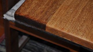 q we have all solid wood kitchen cabinets maybe mahogony not sure need to replace, kitchen cabinets, End grain on table edge