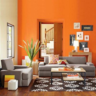 A Bold Way To Combine Orange & Gray
