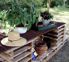Elegant Potting Table Made From Pallets, Diy, Gardening, Painted Furniture, Pallet,  Repurposing