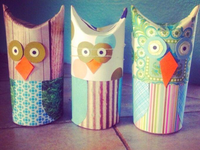 diy toilet paper owls, crafts, seasonal holiday decor