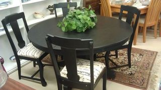 i would like to paint my kitchen chairs black do i need to sand them or just use a, painted furniture