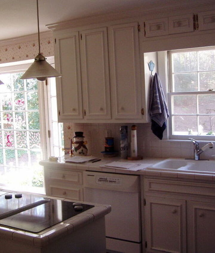 "This is a view of the old kitchen where the addition would go. We ""bumped out"" the space to add-on to the kitchen."