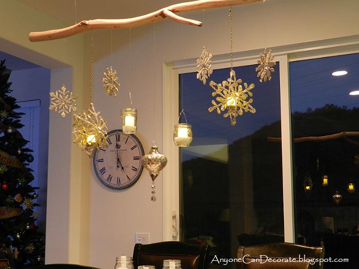 diy christmas ornament and mason jar chandelier, christmas decorations, crafts, mason jars, seasonal holiday decor