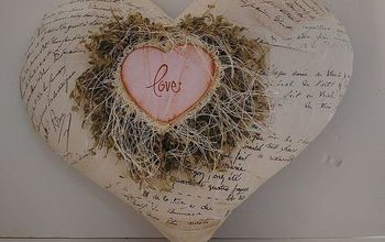 a letter from the heart, crafts, seasonal holiday decor, valentines day ideas