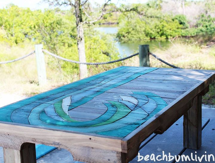 http://beachbumlivin.comPallet Wood Coffee Table-The Wave