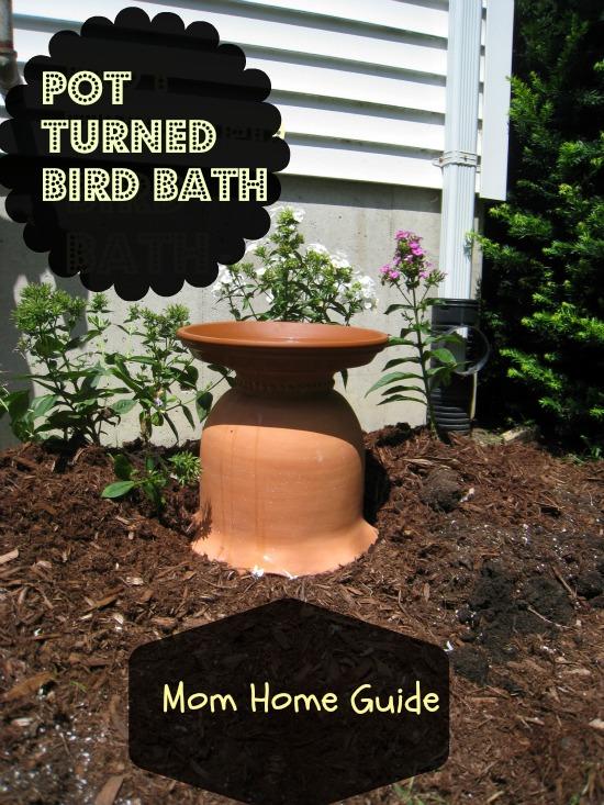 My new DIY bird bath from a clay pot and saucer