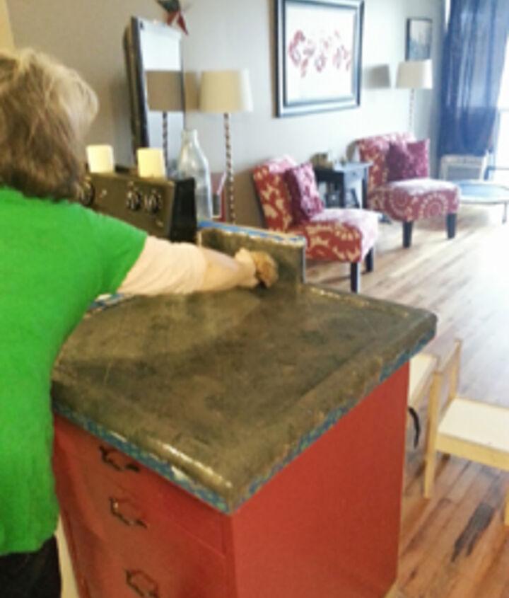 painted tile countertops, concrete countertops, countertops, diy, kitchen backsplash, kitchen design, painting