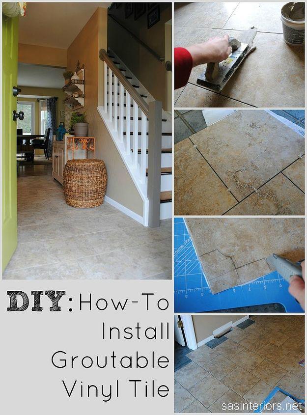 Installing Groutable Luxury Vinyl Tile   Hometalk