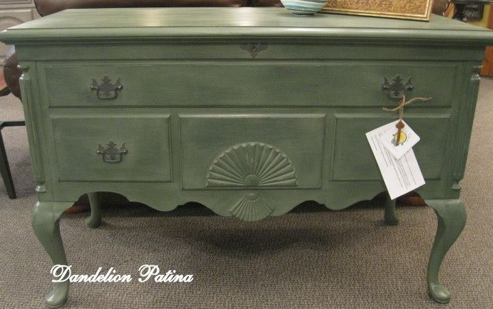michigan pine cedar chest, painted furniture