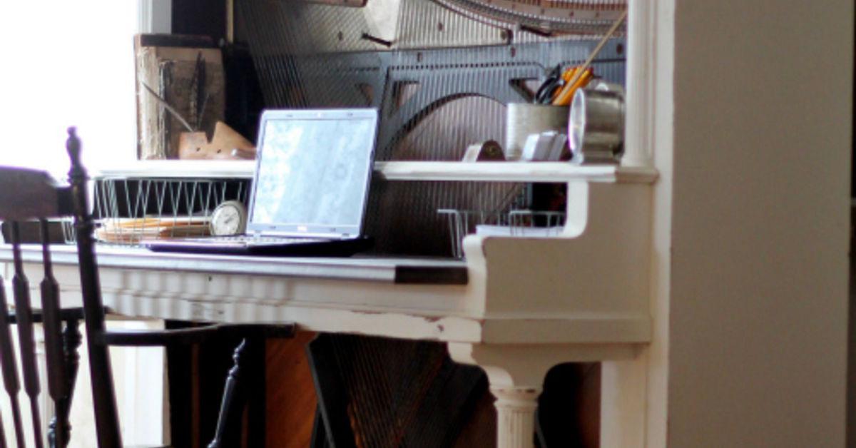Turn an Antique Piano Into an Amazing DESK! - Turn An Antique Piano Into An Amazing DESK! Hometalk