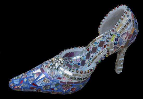 mosaic art shoes who loves these i do, crafts, repurposing upcycling