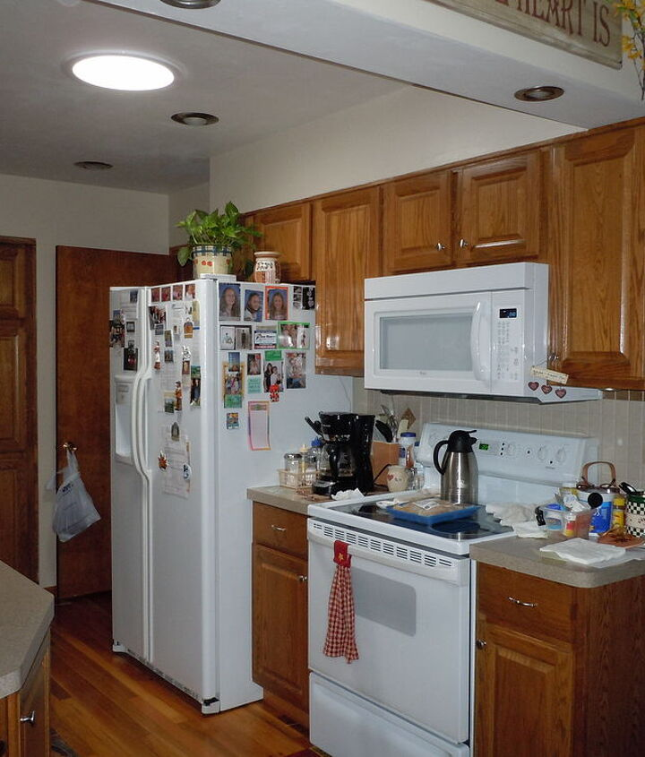 another view of my galley kitchen with skylight