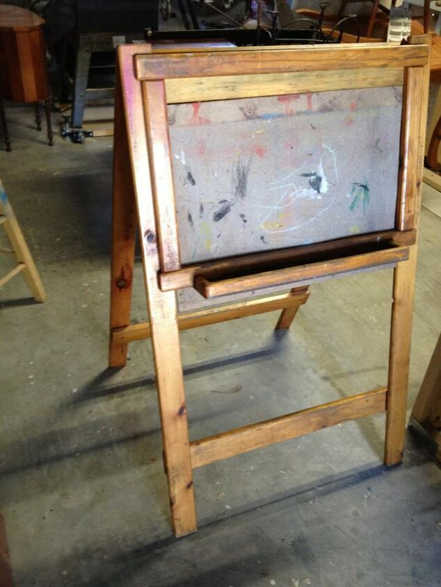 very old 2 sided school chalkboard, chalkboard paint, painted furniture, BEFORE