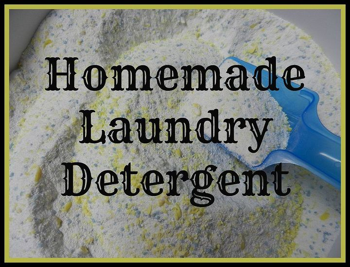 homemade laundry detergent, organizing