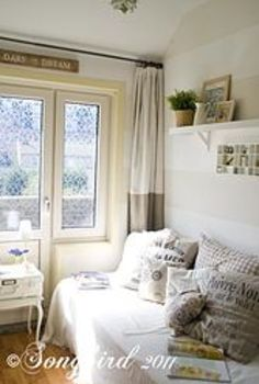 cozy up your guest room to use as a reading room after the guests have left, bedroom ideas, home decor, Add pillows to a guest bed and turn it into a cozy reading spot