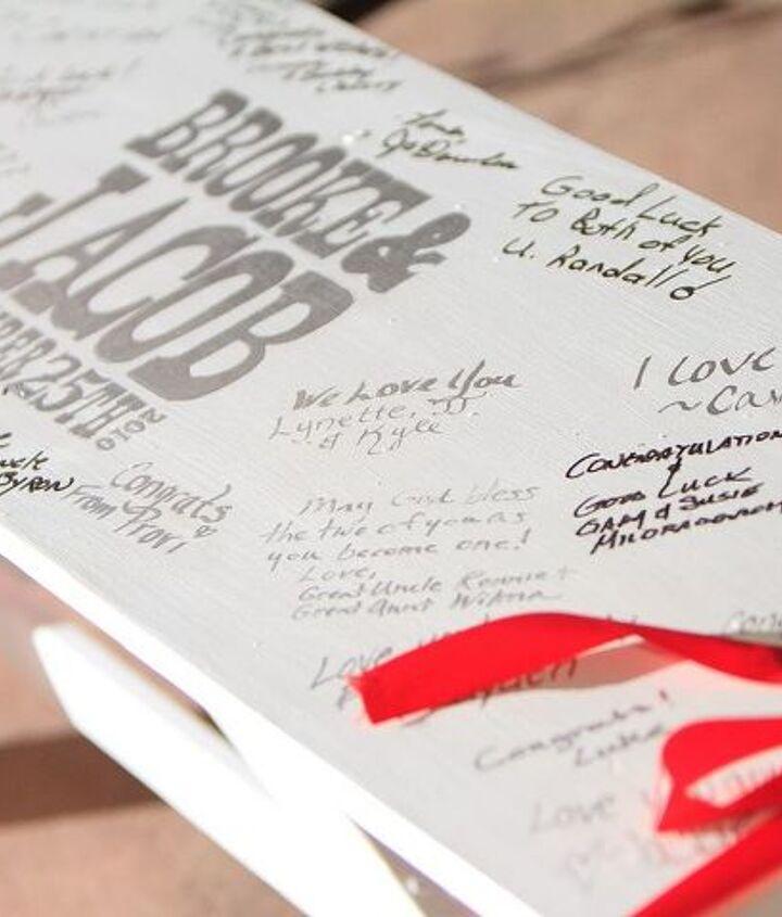 Wedding Guestbook Bench