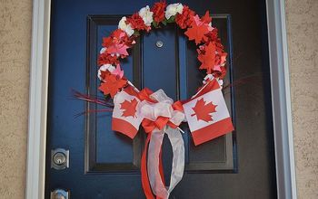 Maple Leaf Decor That Says Happy Birthday Canada! #Patriotic