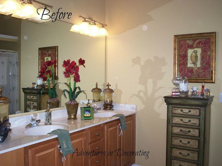 our master bath then and now, bathroom ideas, home decor, BEFORE