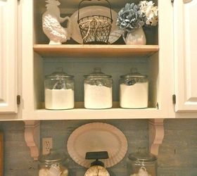 Painted Faux Brick Backsplash Before After, Chalk Paint, Home Decor,  Painting, White