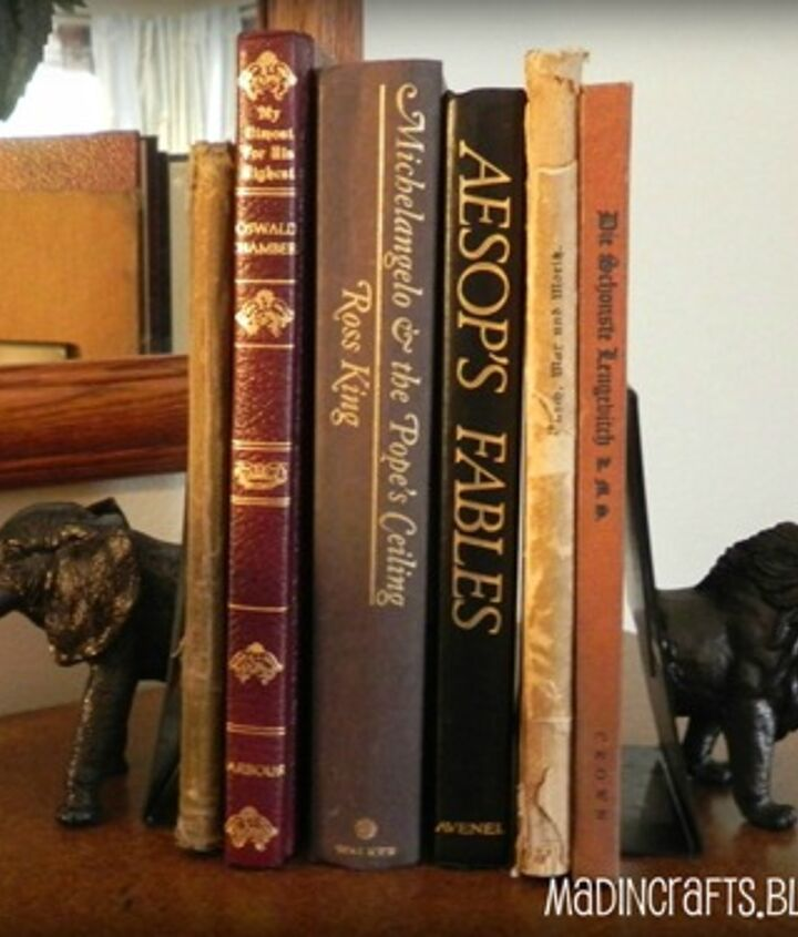 Faux Bronze Animal Head Bookends