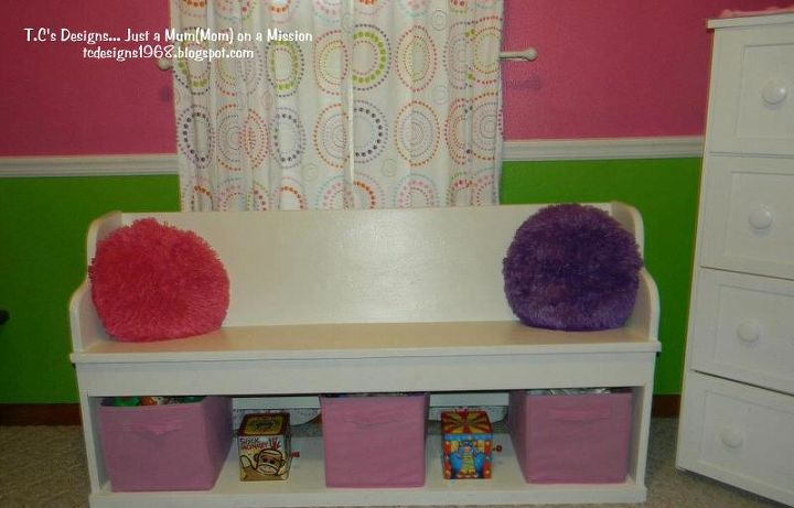 And a Cute Little Storage Bench for a Girls Room
