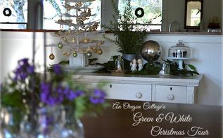green white christmas decorations, seasonal holiday d cor, wreaths, A green and white Christmas