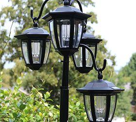 Easy DIY Solar Lights Lamp Post With Flower Planter | Hometalk