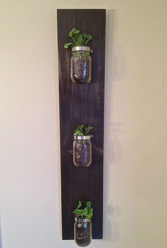 Use Mason Jars to build a custom indoor herb garden