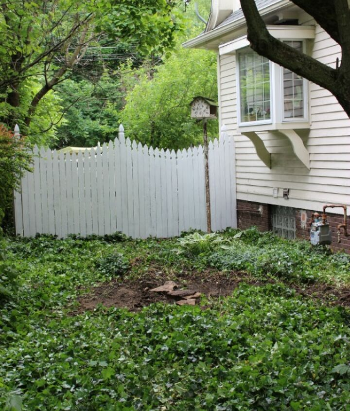 This is the before. Well...after all the weeds were pulled.