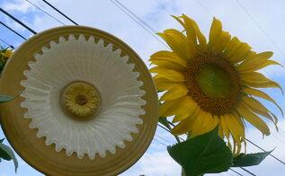 glass flowers amp backyard, crafts, flowers, gardening, hydrangea, outdoor living, My inspiration for my newest glass plate flower