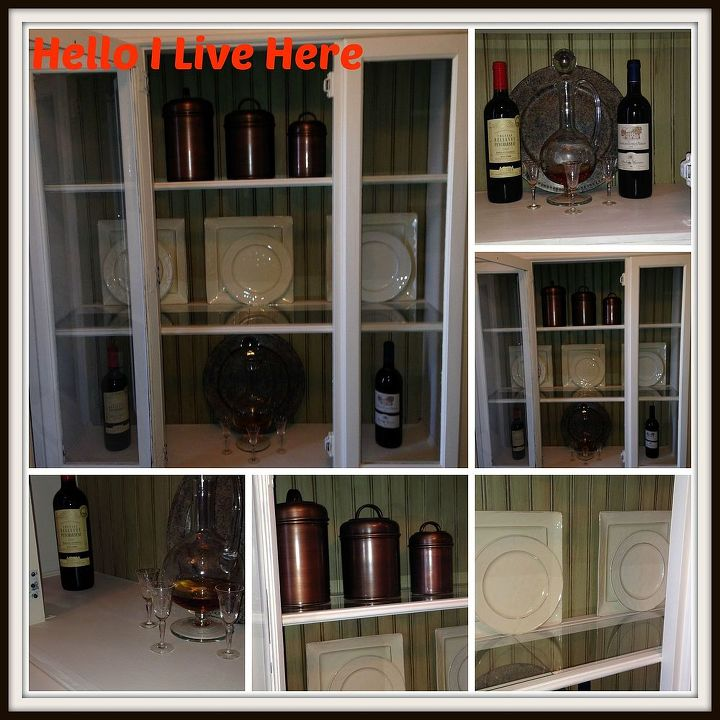 Inside Finished DIY China Hutch Make Over Completed by Hello I Live Here