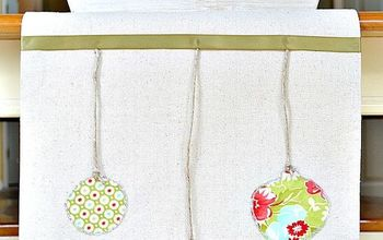 How to make a knock-off of Ballard Designs Hanging Ornament Table Runner