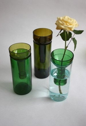 Recycled Contemporary Vases made in bottle