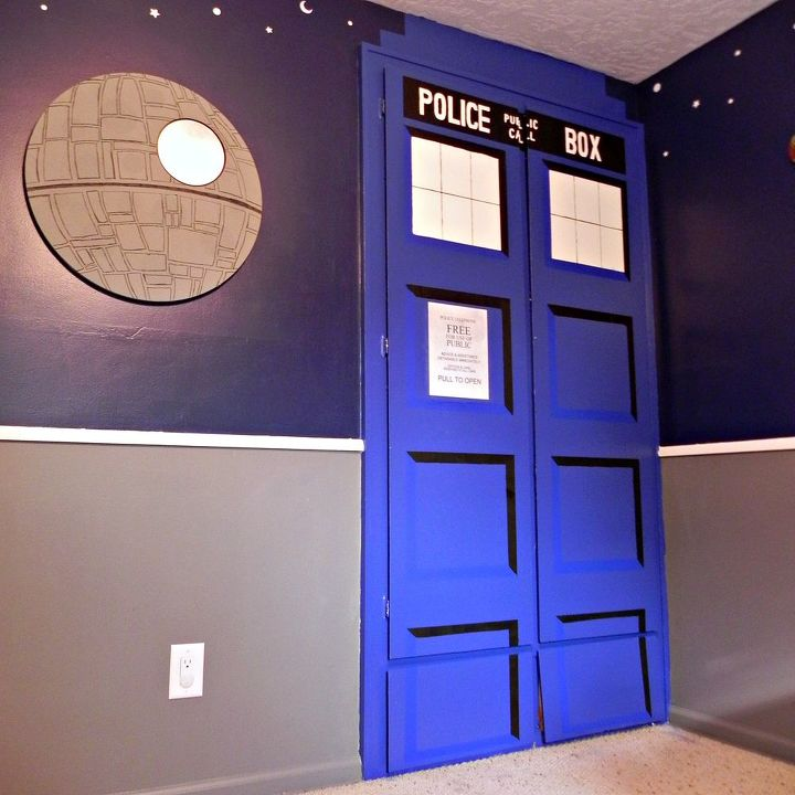 Death Star mirror and TARDIS closet