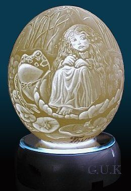 Thumbelina. Also an intaglio carving.