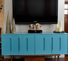 Mid Century Modern Buffet Repurposed As A T V Cabinet, Painted Furniture,  Repurposing Upcycling, After