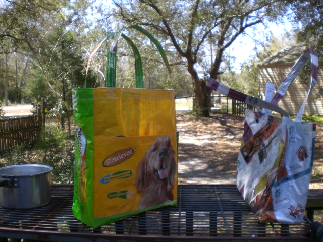 custom tote made from recycled material, crafts, repurposing upcycling