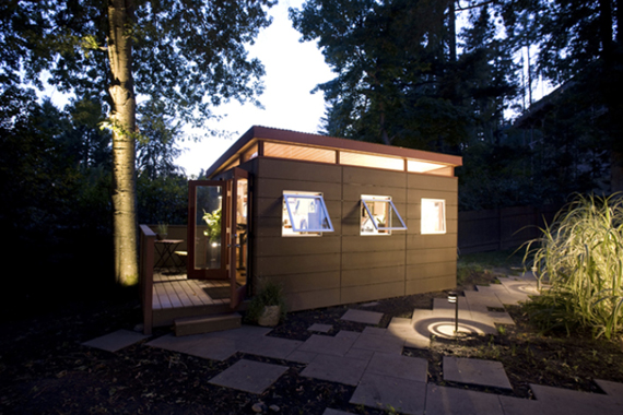 This design is based on the Modern Shed and comes in size 80 sq ft to 640 sq ft.  Tiny enough living spaces for ya!