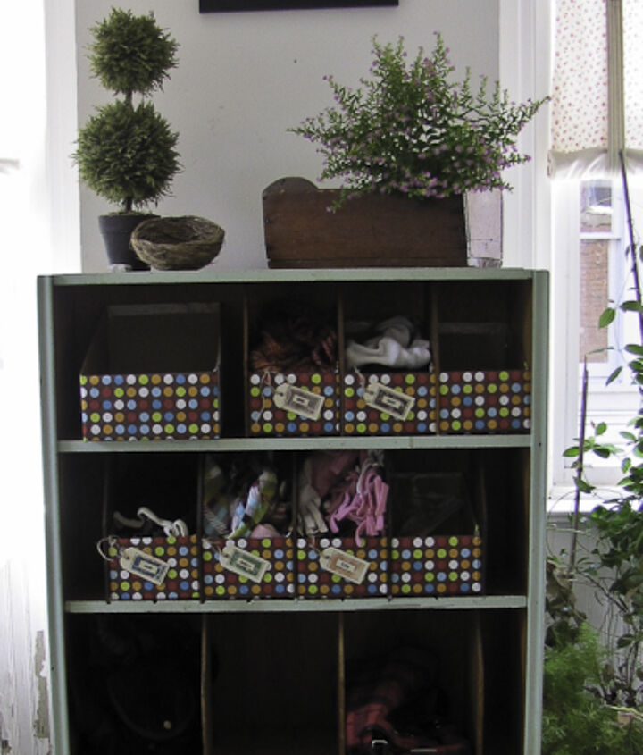 cubby bins out of mailing boxes, crafts, storage ideas
