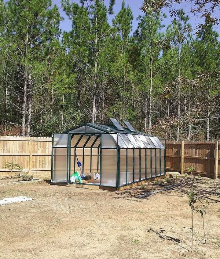 My husband and I put this greenhouse together ... ever tried that?  fortunately we're not divorced LOL