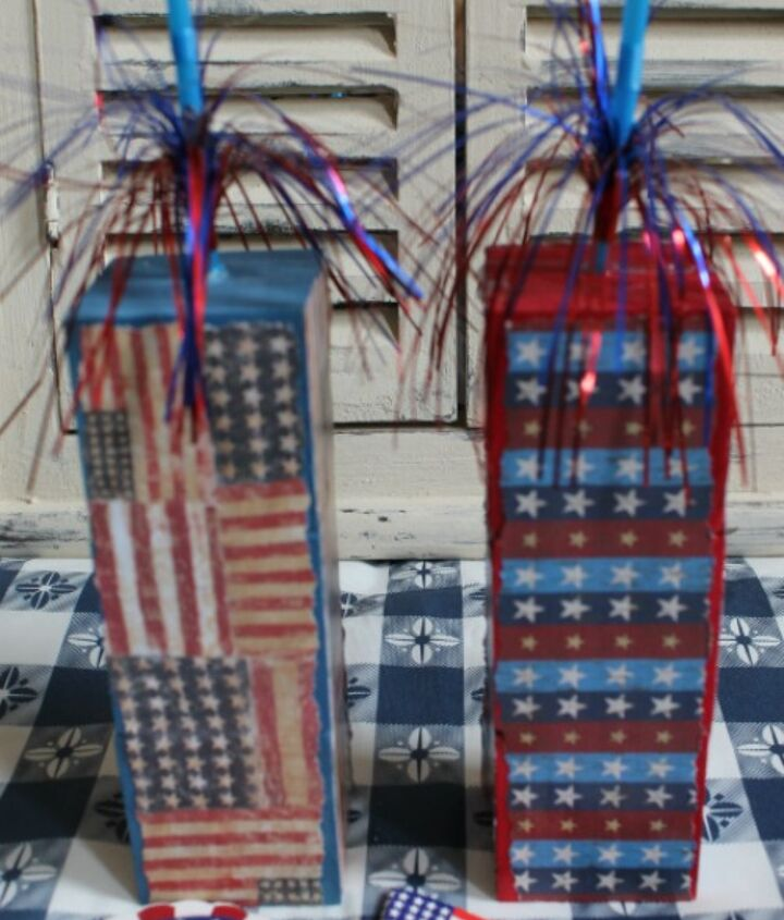 30 minutes and 7 steps make these fireworks from 3 wooden cubes and a kids' sparkler.
