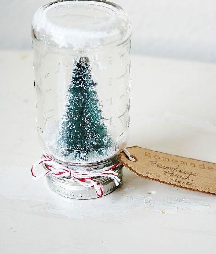 snow globe in vintage bottle, crafts, seasonal holiday decor