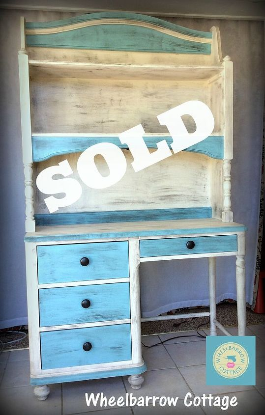 the study of a lucky find, painted furniture