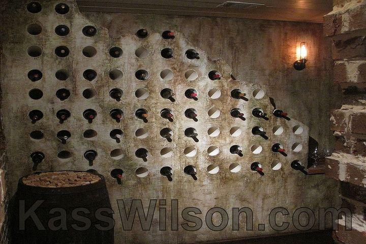 Wine cellar storage design.