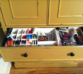 armoire turned sewing cabinet hometalk rh hometalk com Horn Sewing Cabinets with Lift Armoire Craft Storage Cabinet